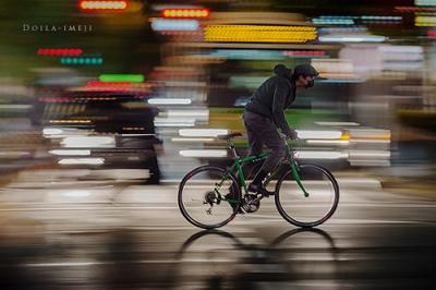 contoh foto panning sepeda