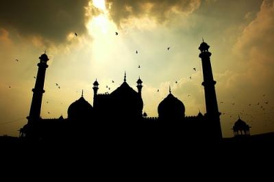 foto siluet masjid